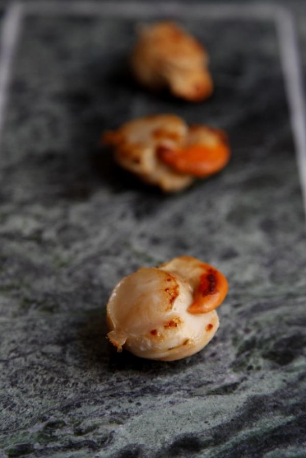 1433  600x pici e castagne capesante con crema di zucca all arancia 2   Foto