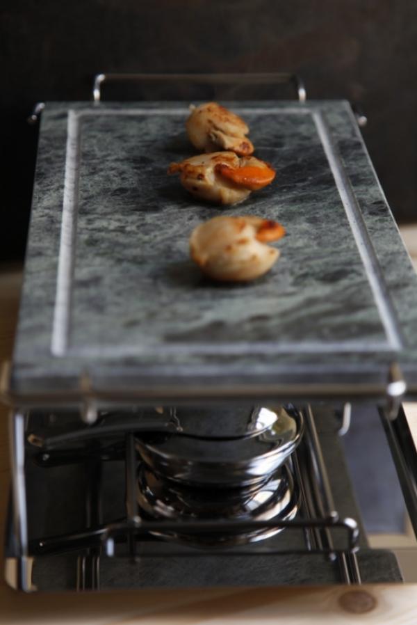 1434  600x pici e castagne capesante con crema di zucca all arancia 3   Foto