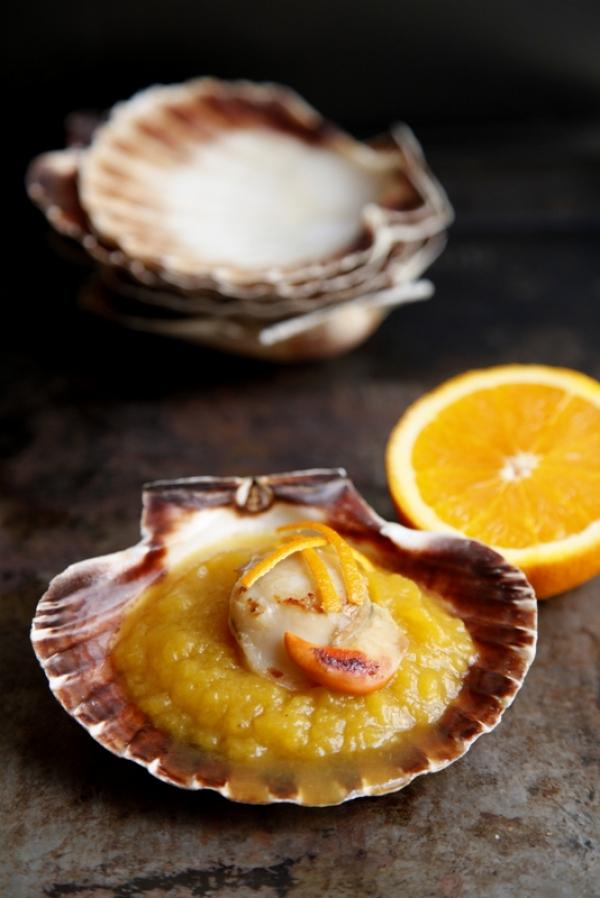 1435  600x pici e castagne capesante con crema di zucca all arancia 4   Foto