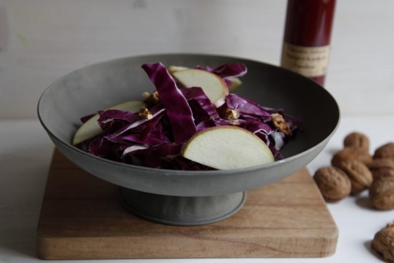1467  800x pici e castagne insalata di cavolo viola con aceto ai lamponi   Foto