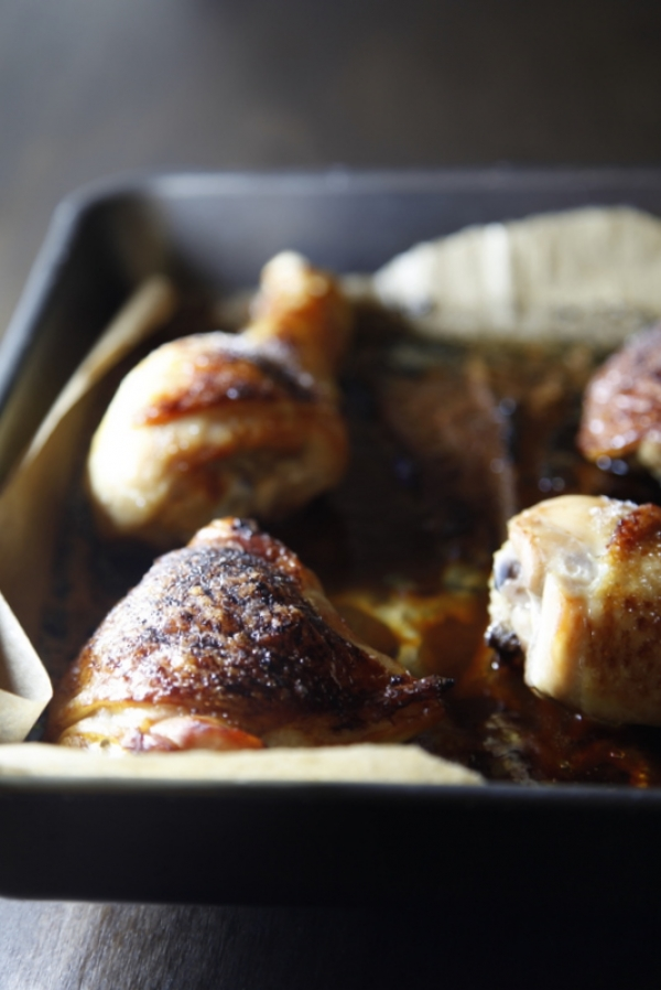 1474  600x pici e castagne pollo glassato al melograno 3   Foto