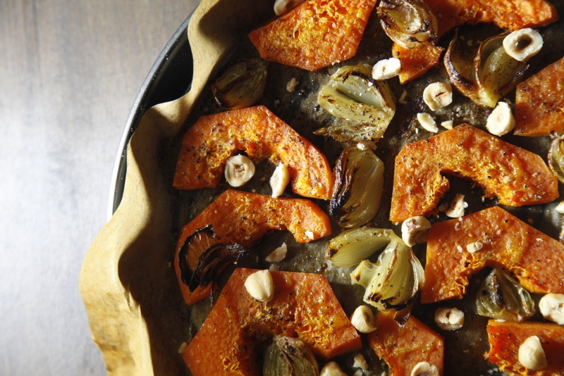 1524  800x pici e castagne zucca al forno con scalogni e nocciole 2   Foto