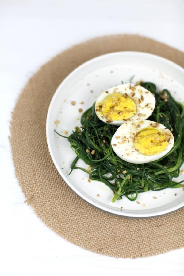 1690  600x pici e castagne uova con agretti e dukkah 3   Foto