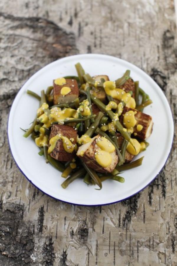 1873  600x pici e castagne insalata di tofu con fagiolini 3   Foto
