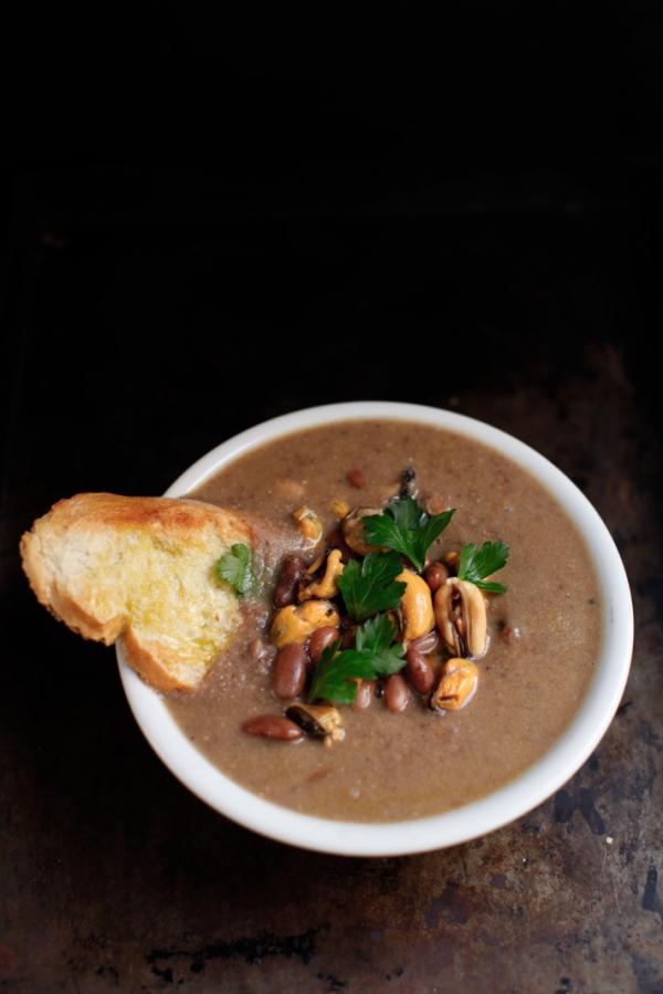 2274  600x pici e castagne zuppa di fagioli e cozze 4   Foto