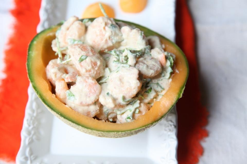542  960x720 pici e castagne insalata di gamberi e melone   Foto