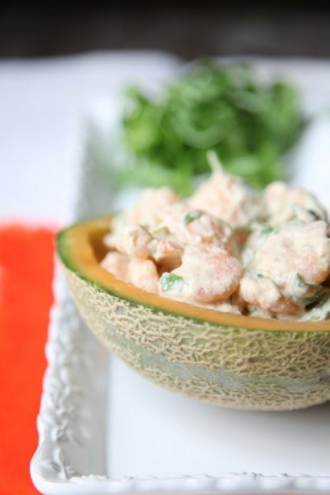 543  960x720 pici e castagne insalata di gamberi e melone2   Foto