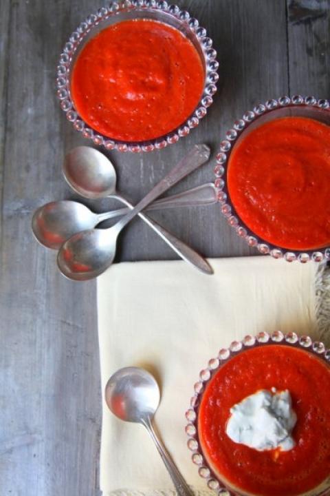 571  960x720 pici e castagne crema di peperoni   Foto