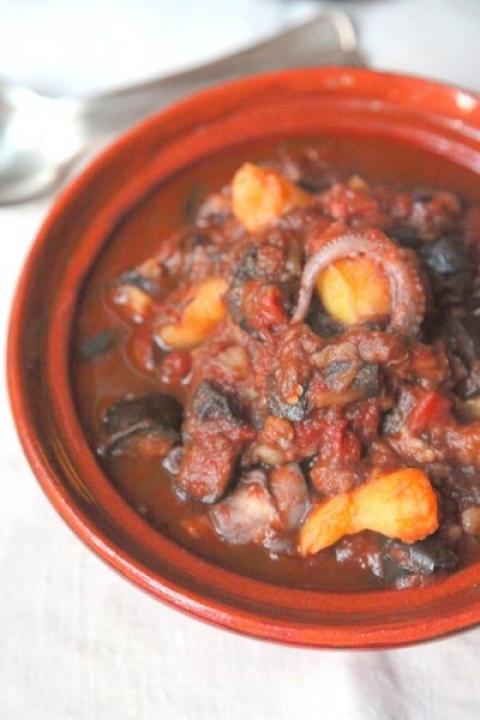 715  960x720 pici e castagne polpo melanzane e patate 3 copia   Foto