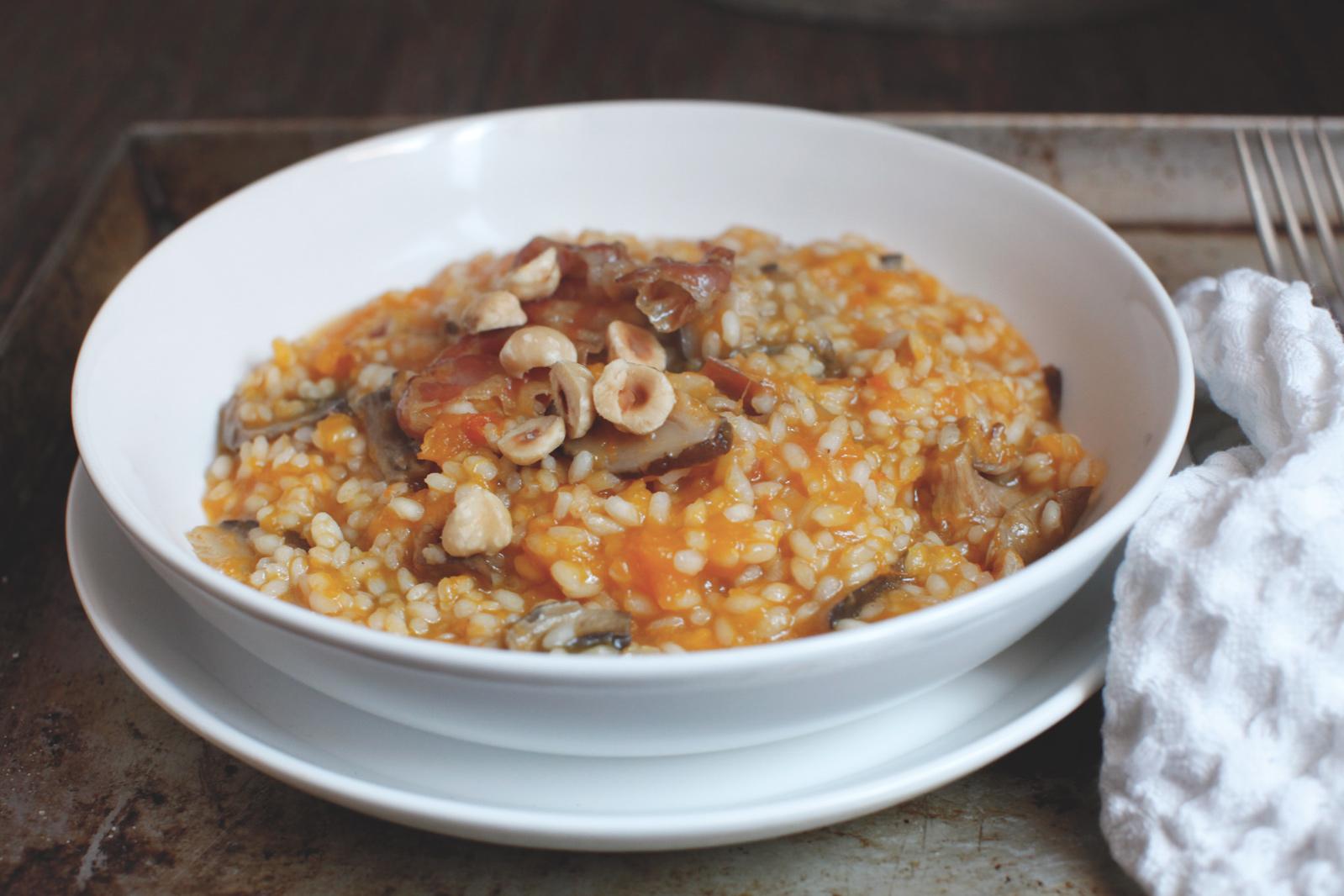 pici-e-castagne-risotto-zucca-nocciole-pancetta-e-funghi-3
