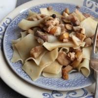 """<span class=""""corsivo"""">Taste Of Tuscany </span> : :  LASAGNETTE CON FUNGHI, CASTAGNE E BACCHE DI GINEPRO"""