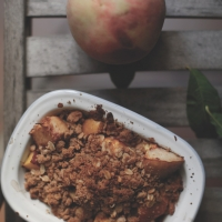 "<span class=""corsivo""> The Perfect Bite </span> : : PESCHE AL FORNO CON CRUMBLE ALL' AVENA"
